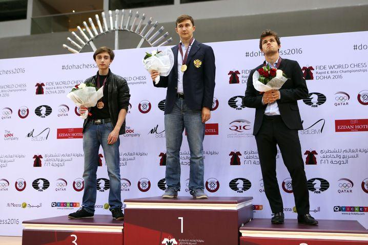 2016 gewann Dubow Bronze bei der Blitz-WM, hinter Magnus Carlsen und Sieger Sergei Karjakin
