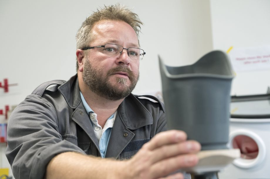 Uli Maier works for Otto Bock, one of the largest medical technology companies in the world. He researches the 3D printing of prosthetics, but he is skeptical of the current hype surrounding the technology.
