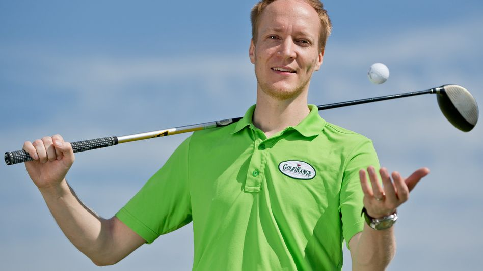 Reinputten mit Tom Niklas Koethe: Seine Abschlussarbeit schrieb er über Golfklub-Manager, nun ist er selber einer
