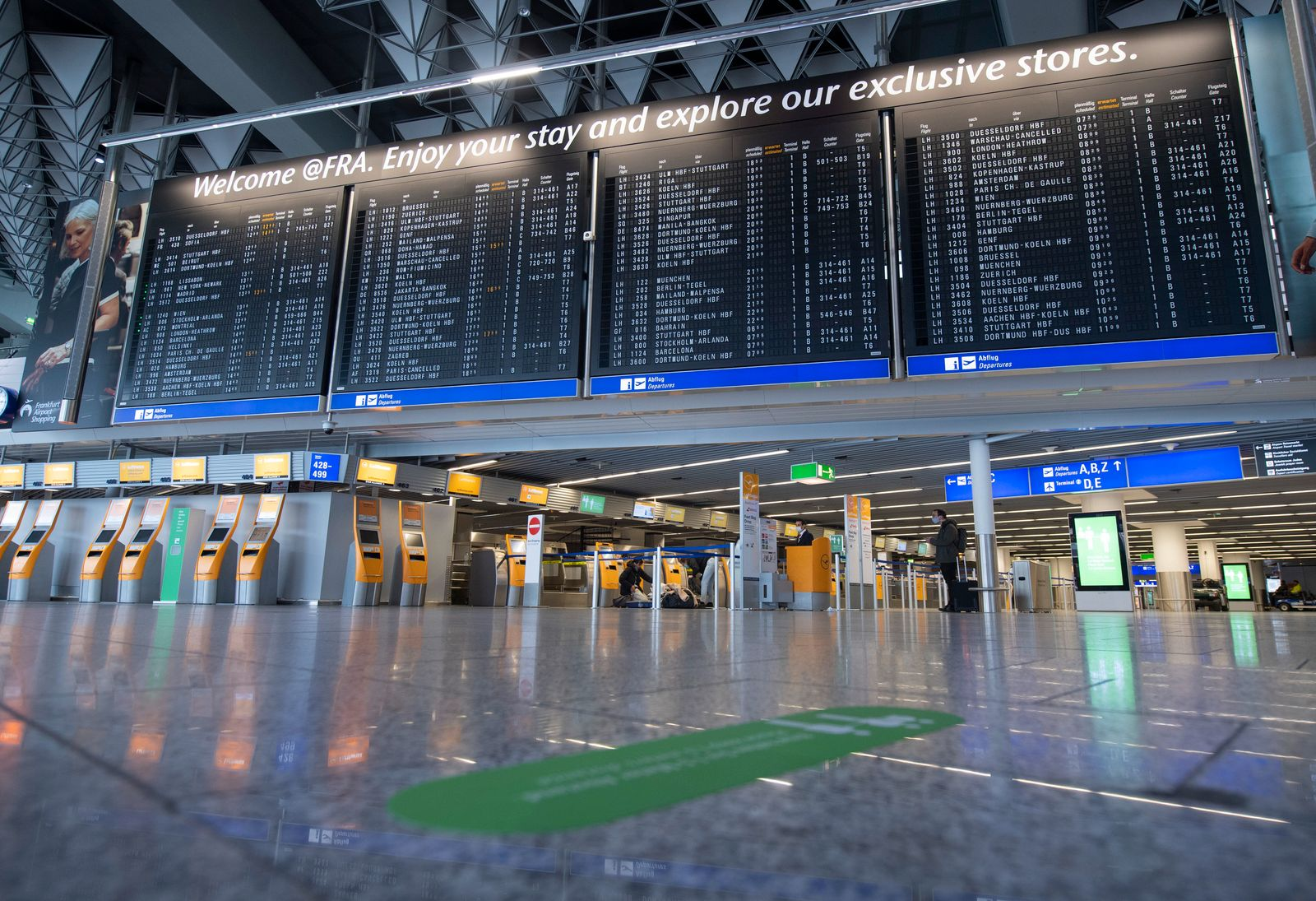 Coronavirus - Flughafen Frankfurt am Main