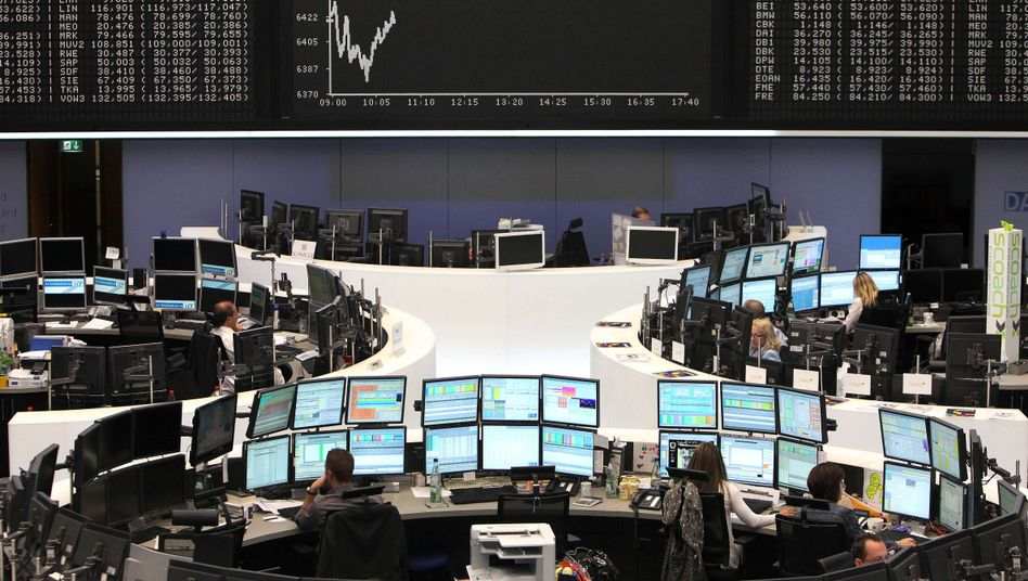 The Frankfurt stock exchange after Moody's downgraded Germany's credit rating.