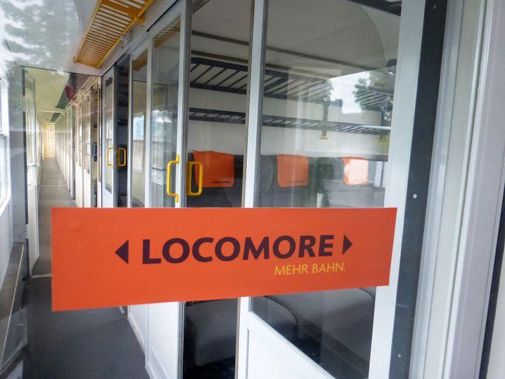 """Abteile im Locomore-Schnellzug: """"Mehr Bahn"""""""