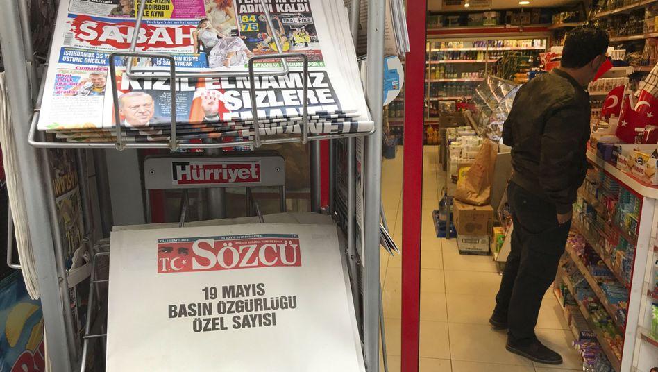 """""""Sözcü"""" erschien zuletzt aus Protest mit leeren Seiten"""