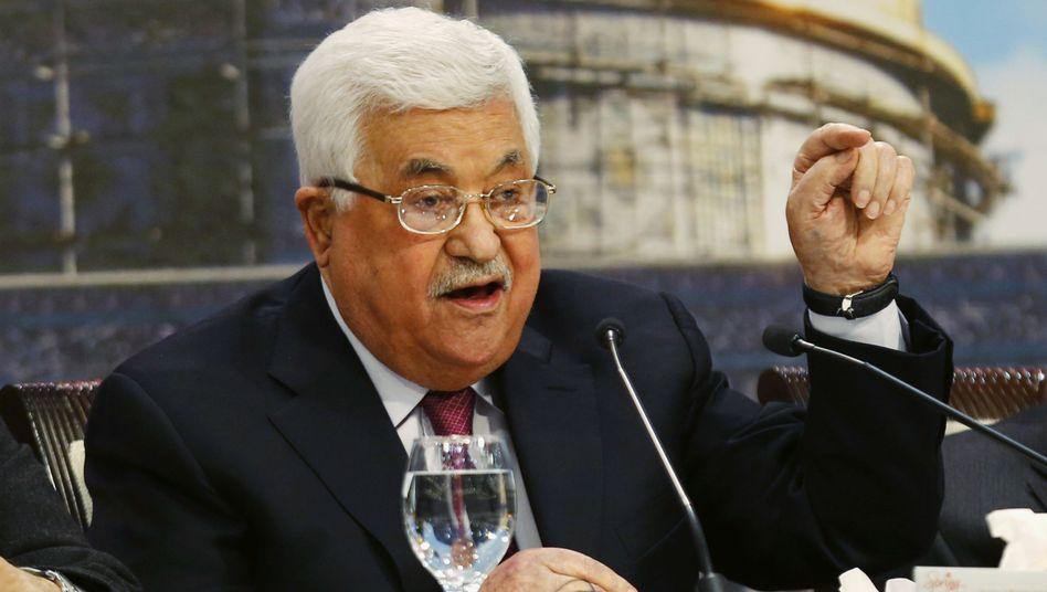 Palästinenserpräsident Mahmoud Abbas