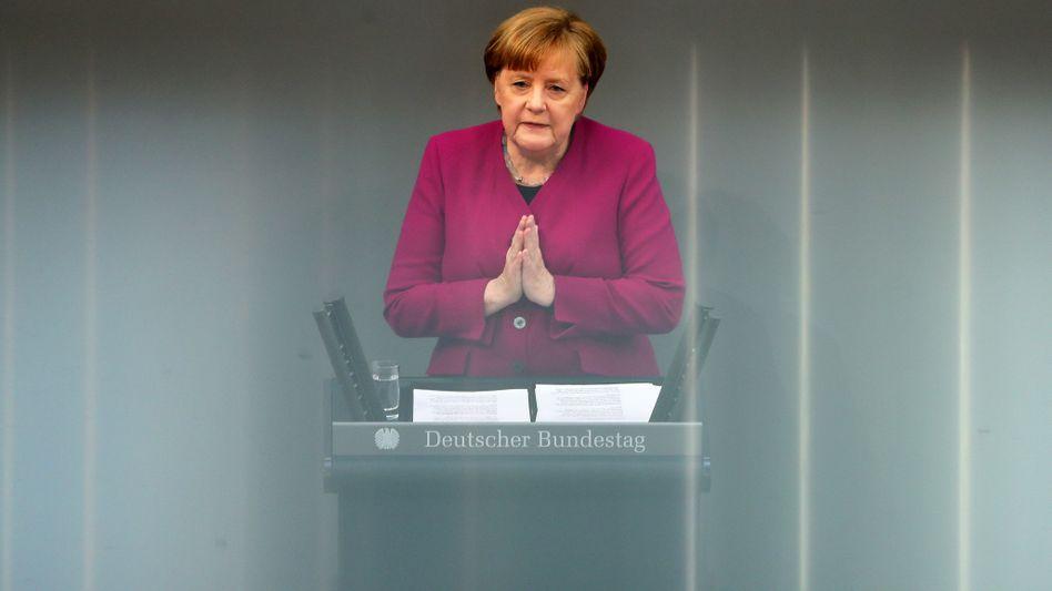 Merkel im Bundestag