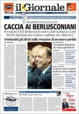 """Titelseite von """"Il Giornale"""", Ausgabe vom 3. Oktober"""