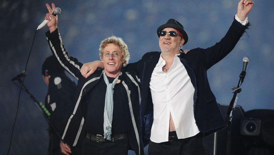 """The Who""-Musiker Daltrey (l.), Townshend: Treue Fans"
