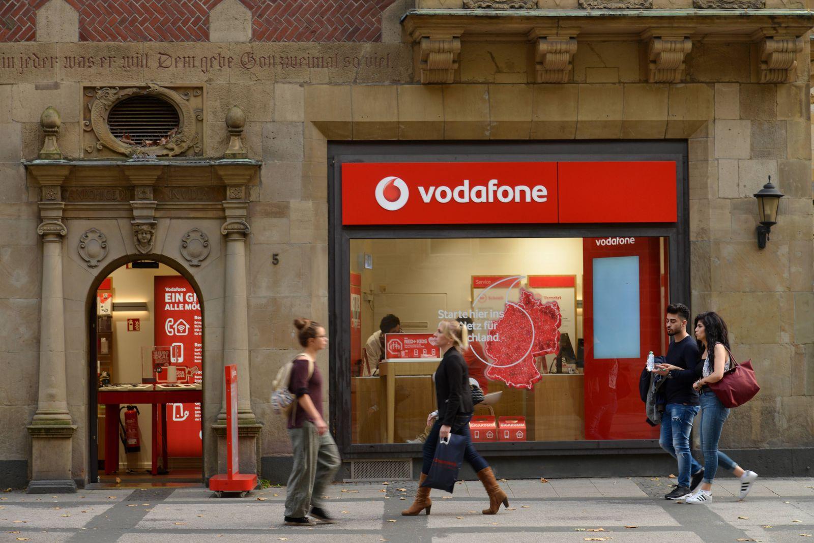 EINMALIGE VERWENDUNG Symbolbild Vodafone Shop Dortmund