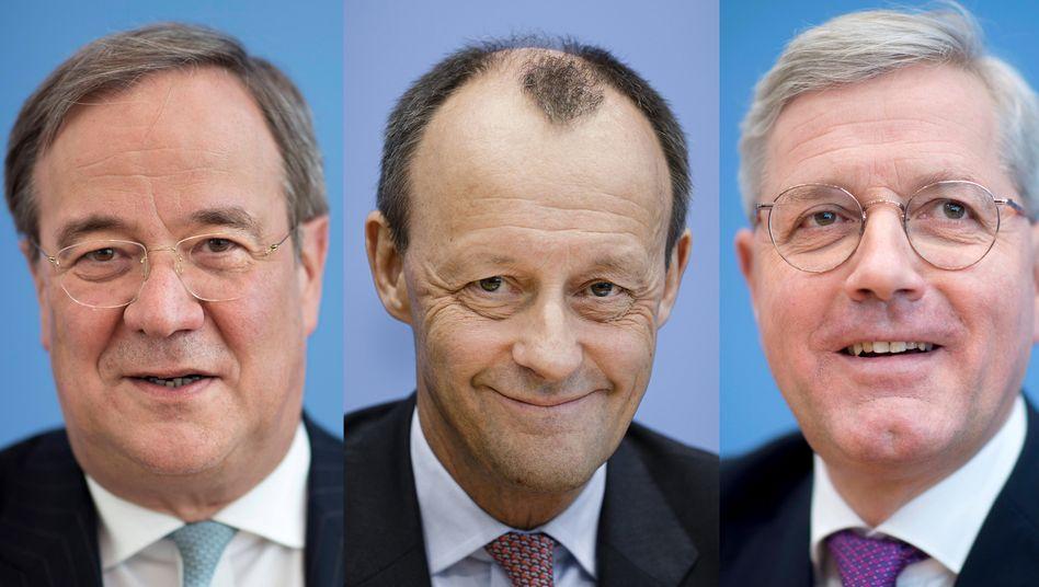CDU-Vorsitzenden-Kandidaten Laschet, Merz, Röttgen