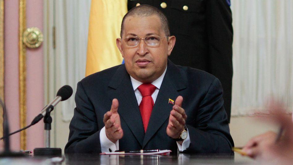 Präsident Hugo Chávez: Unbekannte haben die Twitter-Accounts seiner Kritiker gehackt