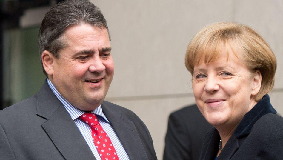 """Verhandler Gabriel mit Kanzlerin: Verschenkt er """"Führungsanspruch""""?"""