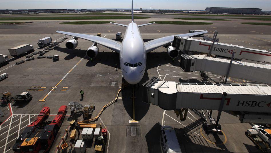 A380 in Heathrow: Großbritannien droht deutschen Airlines mit Landeverbot