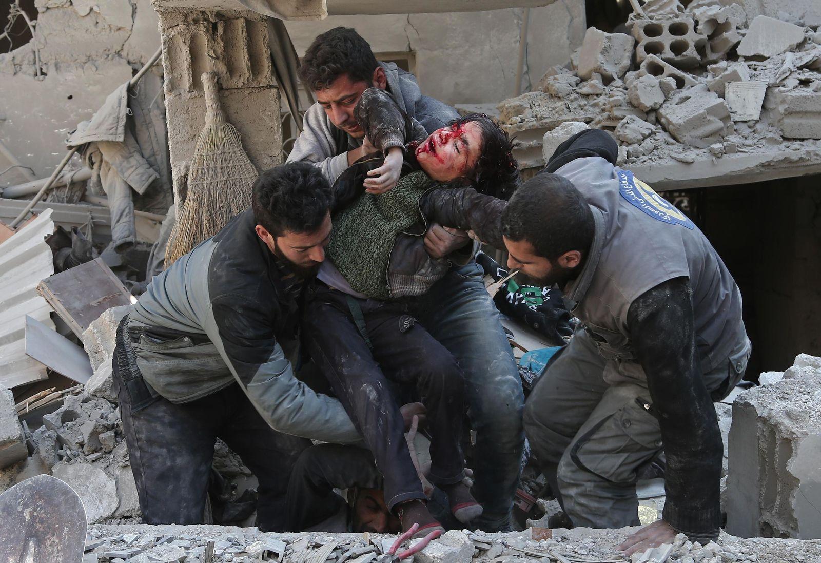 SPIEGEL Plus SPIEGEL 9/2018 Syrien Ghouta (STARTBILD)