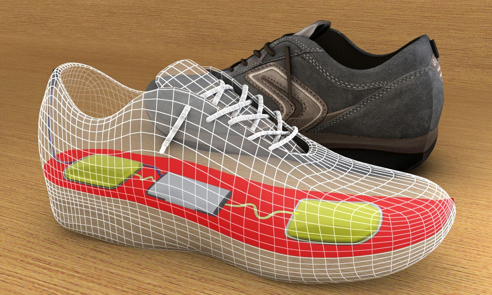 NICHT VERWENDEN Strom aus Schuhsohlen