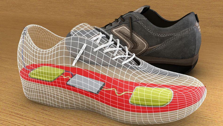 Schuhsohlen-Generator (Illustration): Energiegewinnung beim Gehen