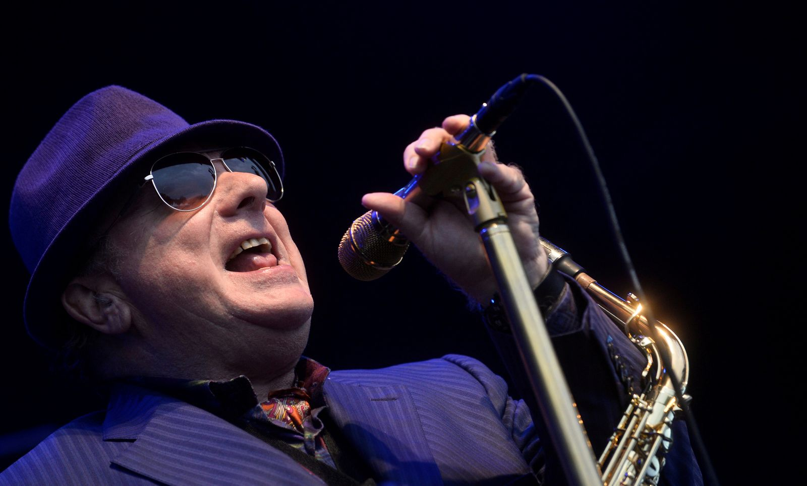 FILE PHOTO: Northern Irish musician Van Morrison performs at the BBK Music Legends festival in Sondika, near Bilbao