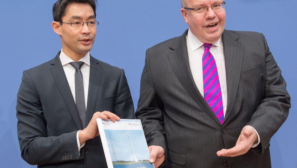 Wirtschaftsminister Rösler und Umweltminister Altmaier: Fragwürdige Postenvergabe