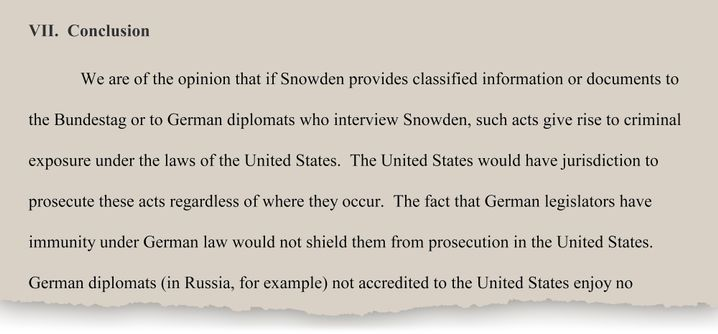 An excerpt of the legal analysis commissioned by the German government from the Washington D.C.-based law firm Rubin, Winston, Diercks, Harris & Cooke.