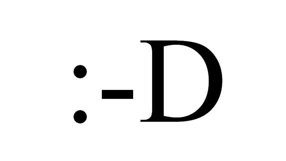Erfindung des Seitwärts-Smiley: Ich bin :-)