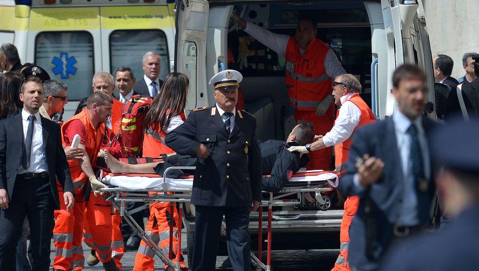 Amtseinführung von Premier Letta: Schüsse vor Regierungssitz in Rom - Polizisten verletzt