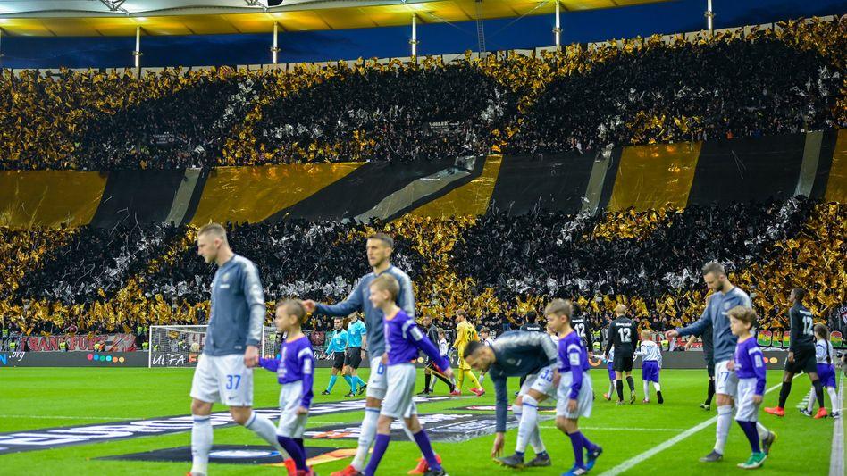 Choreographie der Fans von Eintracht Frankfurt