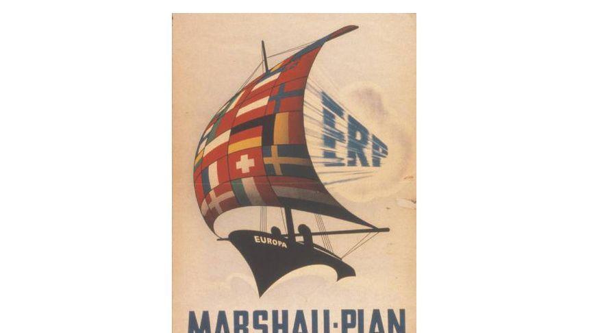 Werbeplakat für den Marshall-Plan