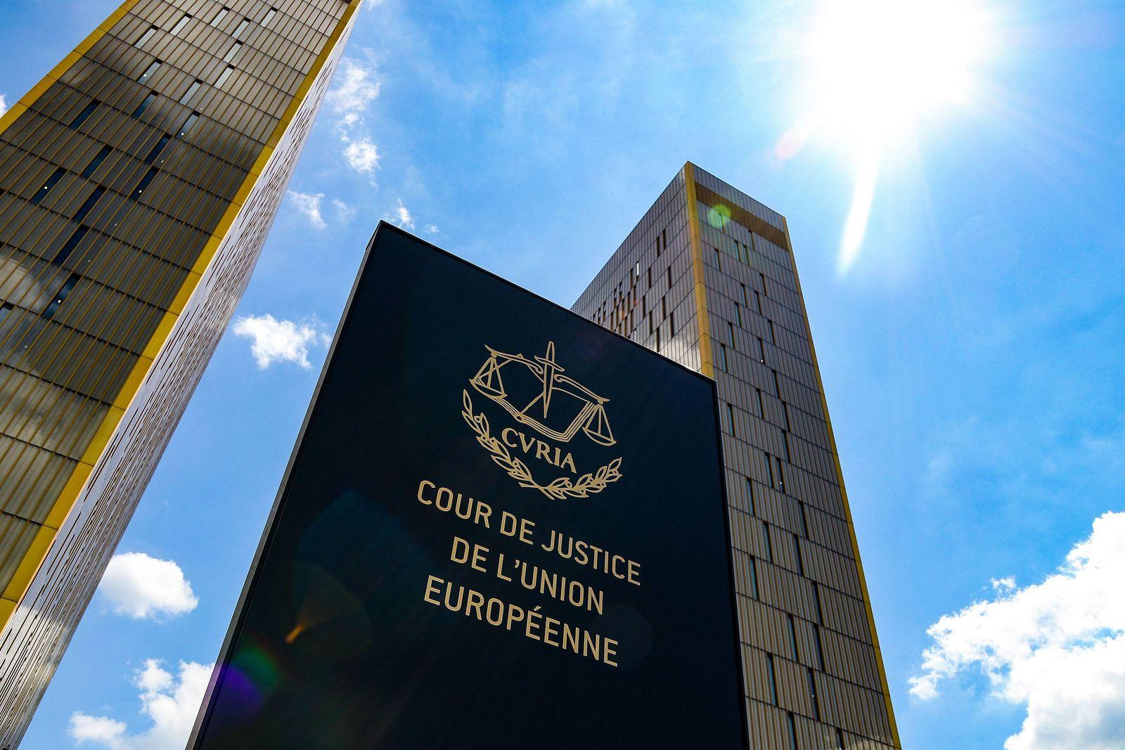 EINMALIGE VERWENDUNG Der Europäische Gerichtshof / Europäischer Gerichtshof