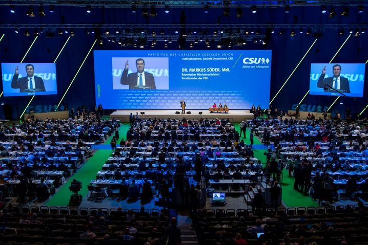 """CSU-Parteitag in München: """"Mythos erneuern"""""""