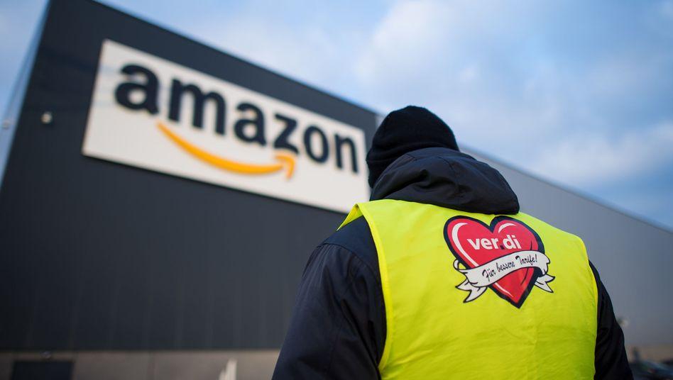 Streik bei Amazon in Werne (Archivbild): Arbeitskampf für bessere Löhne