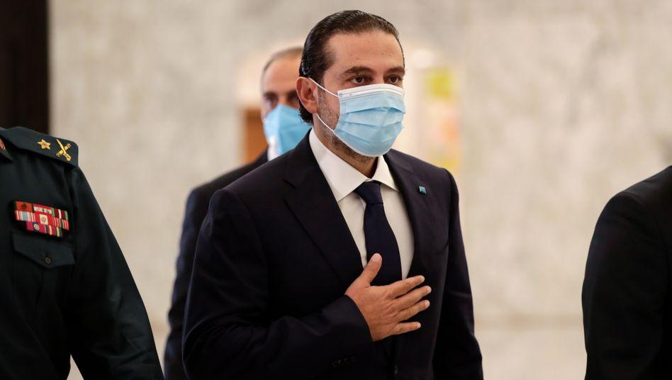Saad Hariri nach dem Treffen mit Präsident Michel Aoun