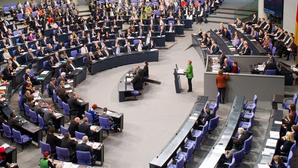 Bundestagssitzung Ende November: Fiepsendes Stimmchen im Mammutchor