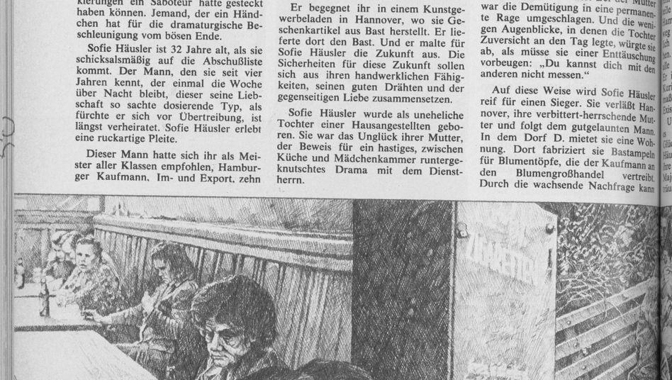 """Die Illustrationen zur SPIEGEL-Reportage gestaltete Peter Sorge (1937-2000), ein Berliner Maler, Zeichner und Grafiker der Kunstrichtung """"Kritischer Realismus"""""""