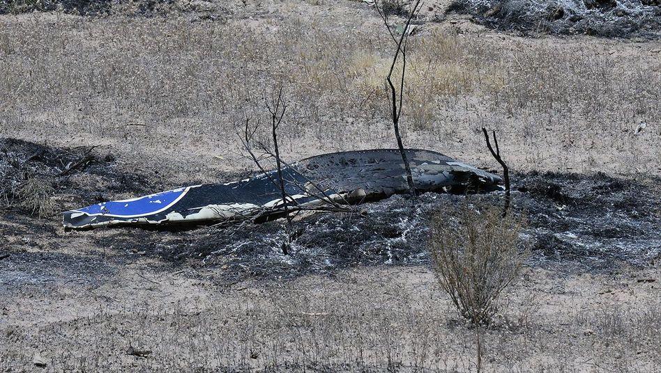 Absturzstelle in Kalifornien: Horner war mit seinem Privatflugzeug unterwegs