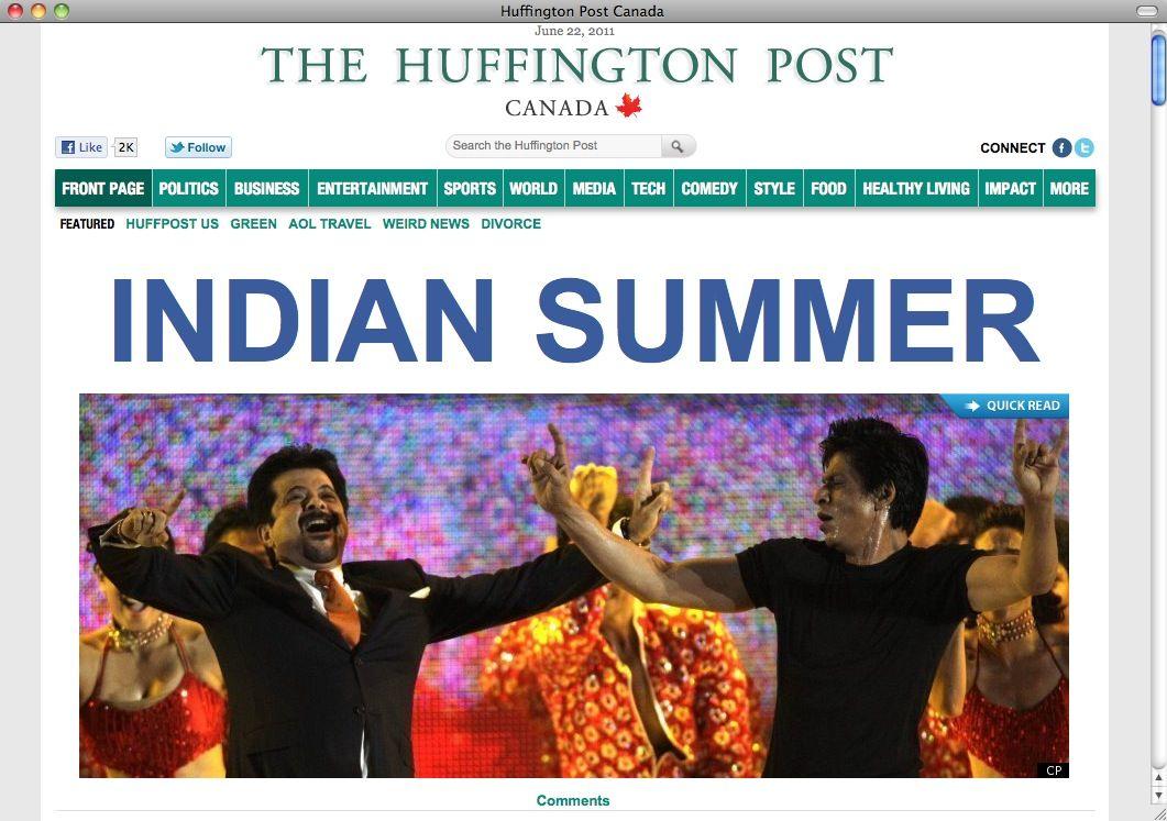 NUR ALS ZITAT Huffpost / Indian Summer / NETWELT