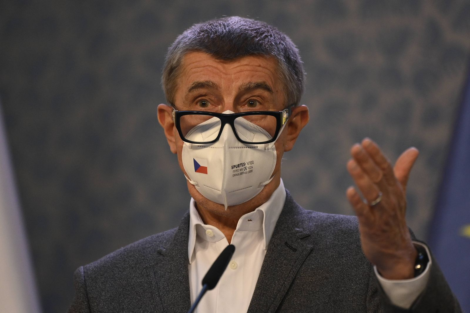 Tschechien, Andrej Babis Pressekonferenz zu Explosion des Munitionslagers 2014 in Vrbetice The Vrbetice blast was not a