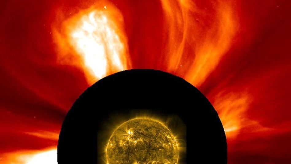 Spektakuläres Schauspiel: Sonneneruption am Donnerstag
