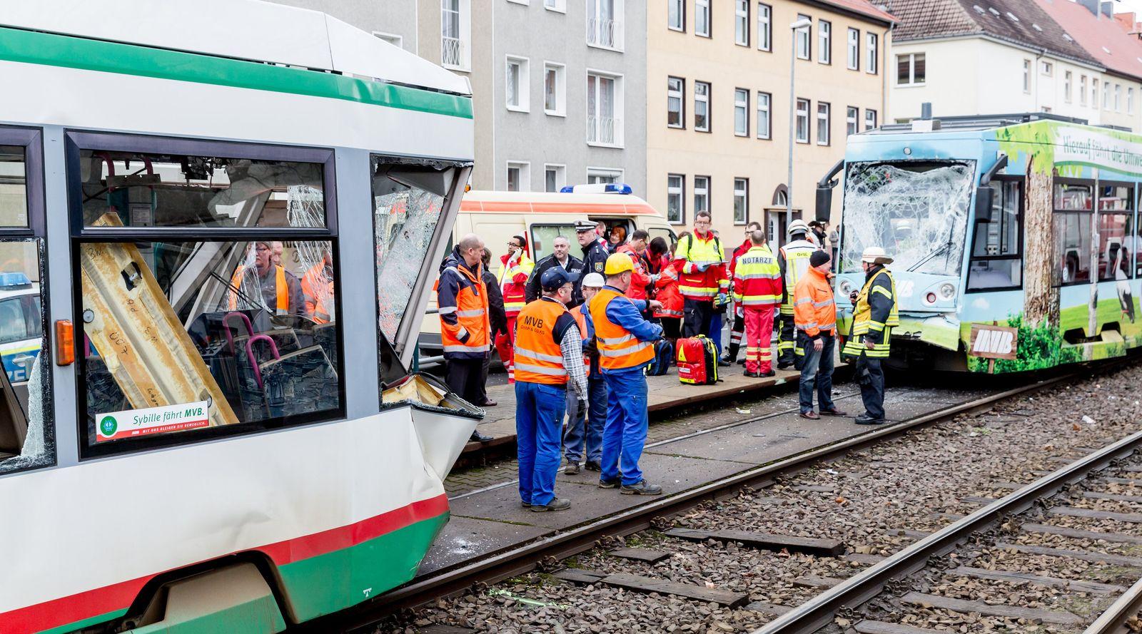 Straßenbahnunfall in Magdeburg