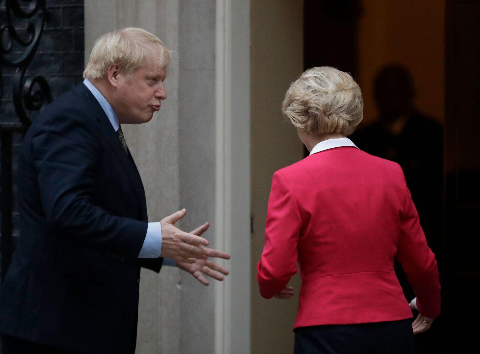 Boris Johnson, Ursula von der Leyen