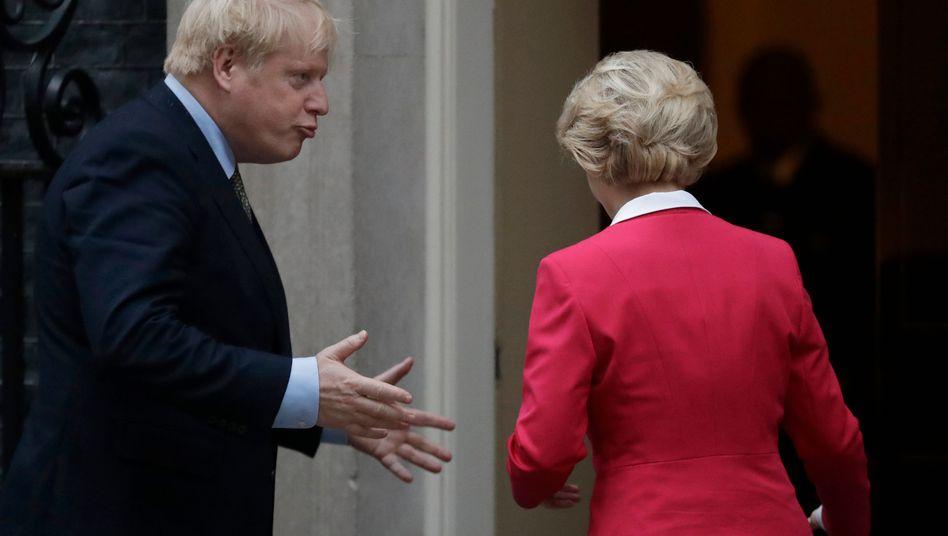 Haben weiter große Differenzen: Boris Johnson und EU-Kommissionschefin Ursula von der Leyen