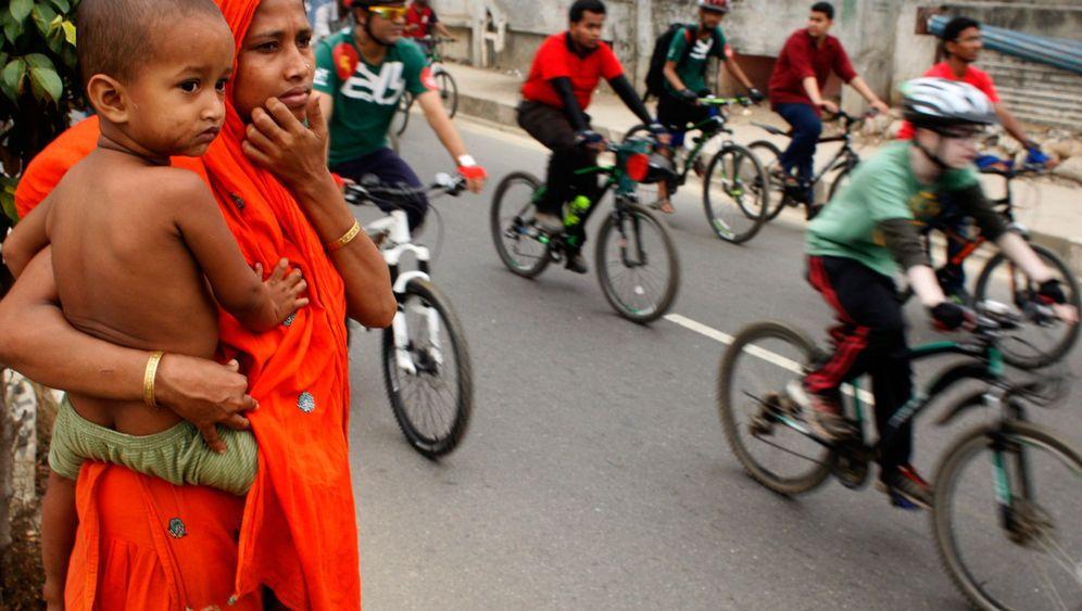 Hauptstadt von Bangladesch: Radeln in der Rushhour