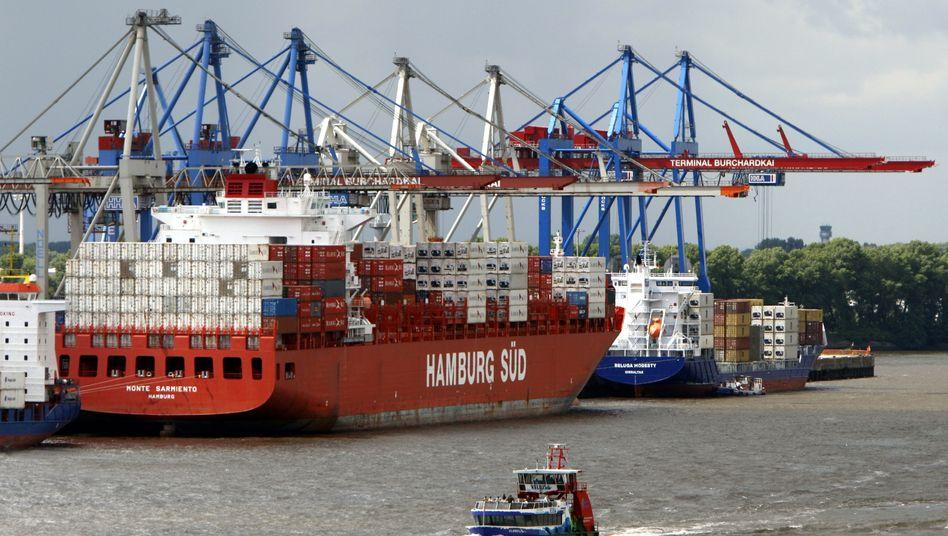 """Containerschiff der Reederei Hamburg Süd: Sicherheitsdienst nur """"zweitbeste Lösung"""""""