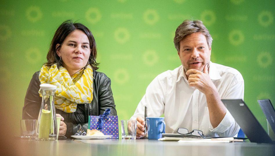 """Grünenchefs Baerbock, Habeck: """"Lücke füllen"""""""