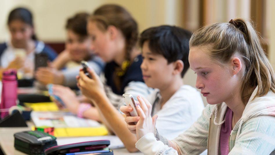 Smartphone-Einsatz im Unterricht an einem Gymnasium