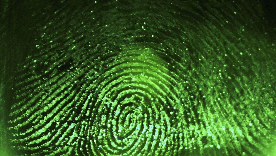 Fingerabdruck (in einem Fingerabdruckscanner): Wachstum in alle Richtungen