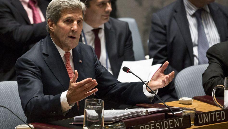 Uno-Sicherheitsrat: US-Außenminister Kerry fordert gemeinsamen Einsatz