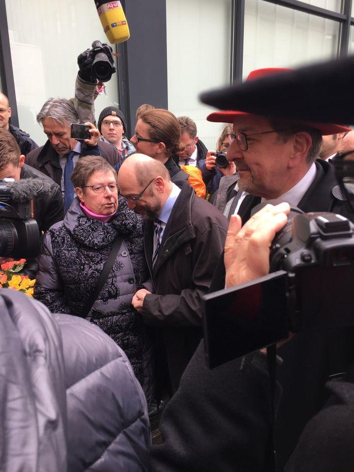 Kandidat Schulz in Darmstadt