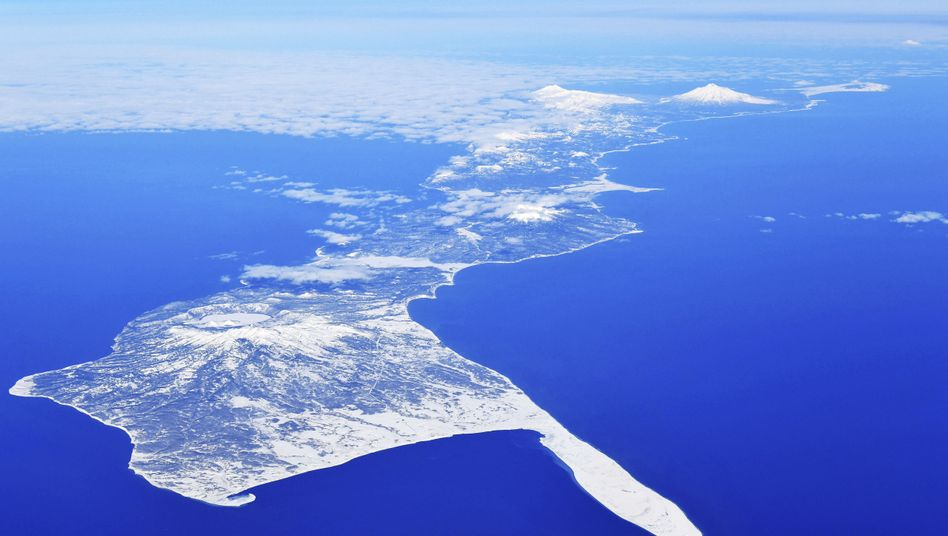Ein Teil der von Japan und Russland beanspruchten Inselgruppe