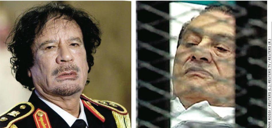 Diktatoren Gaddafi, Mubarak