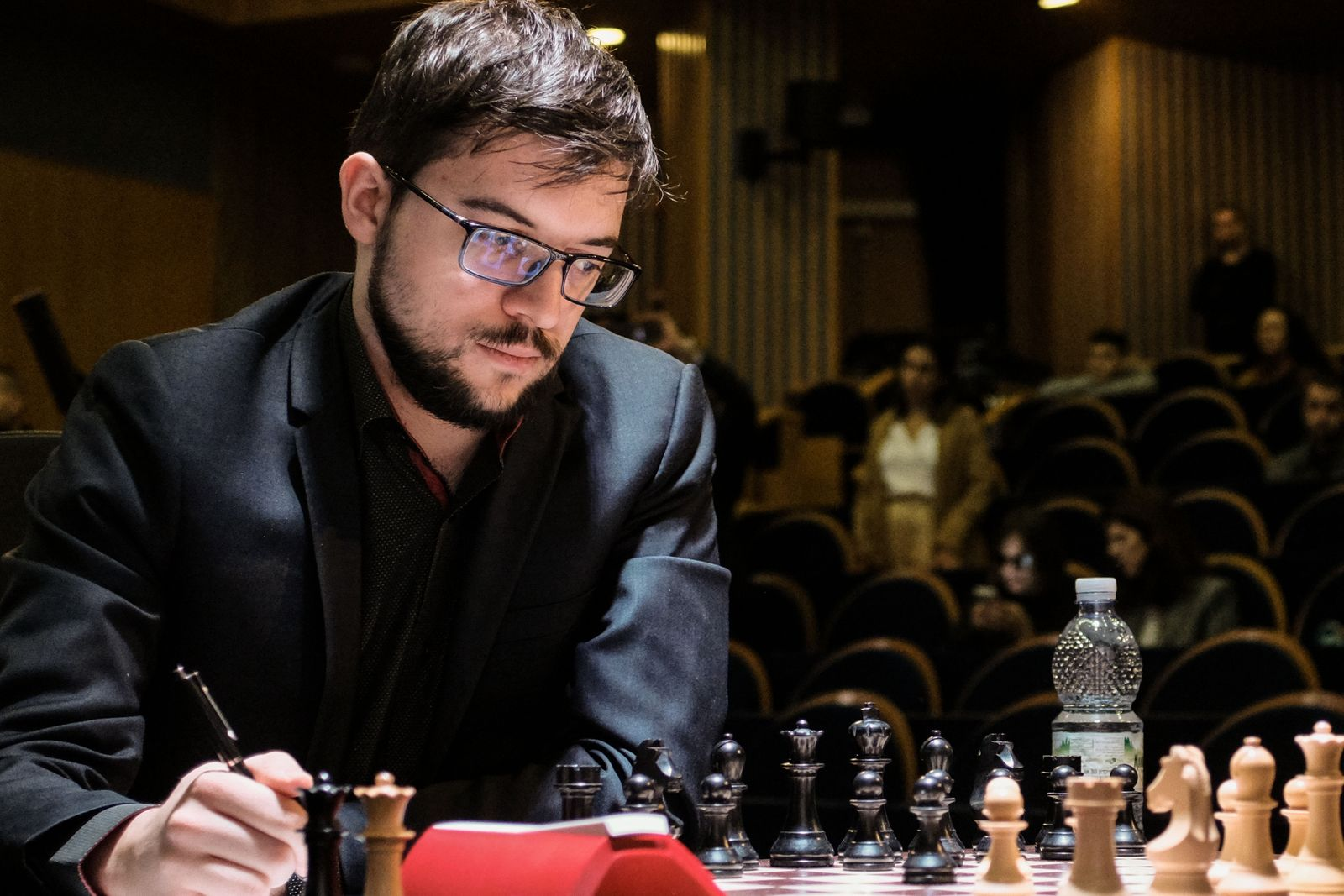 December 11, 2019, Jerusalem, Israel: MAXIME VACHIER LAGRAVE, 30, of France, competes with Topalov of Bulgaria, in Day