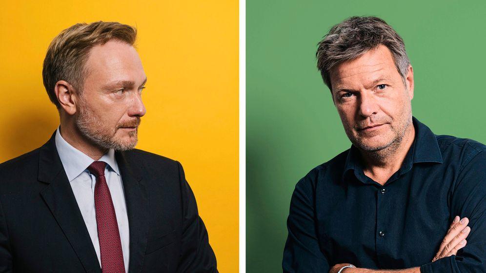 FDP-Chef Lindner und Grünenchef Habeck